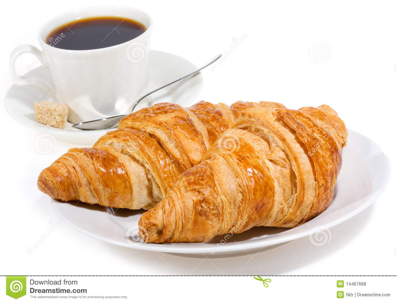 Croissant And Coffee Royalty Free Stock Photos - Image: 14467668