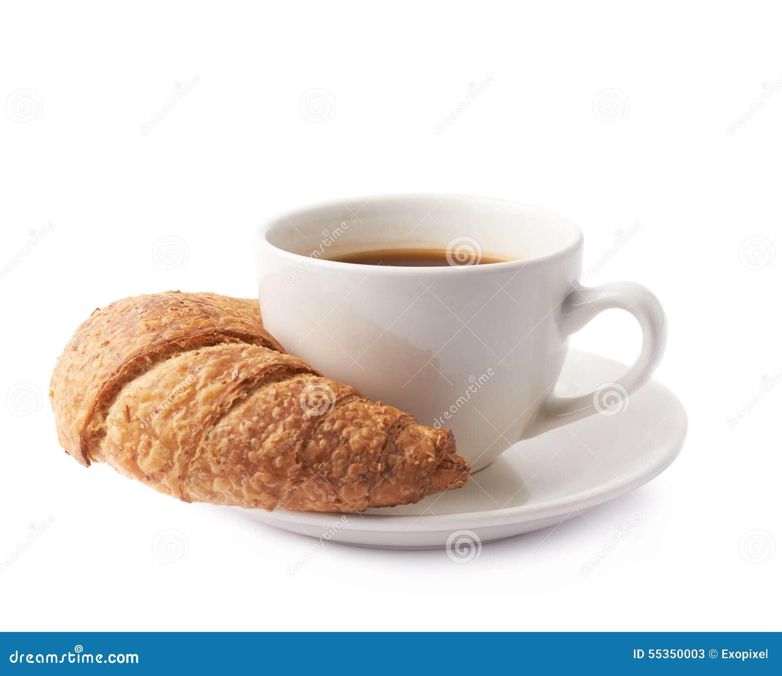 Croissant e tazza di caffè