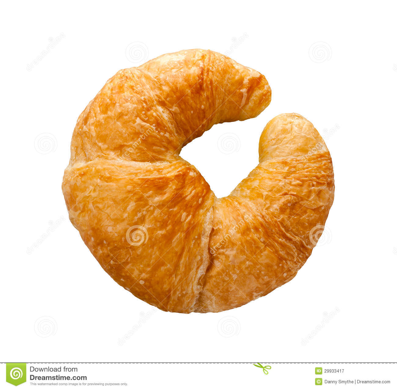 Croissant Isolated Stock Image Of Bread Object