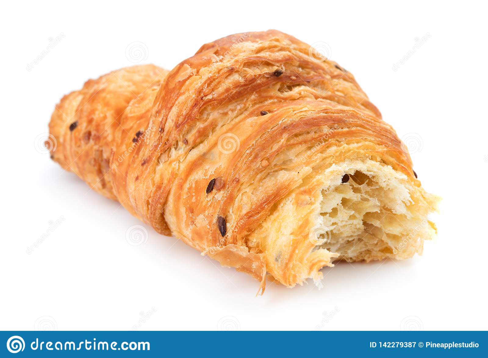 Croissant mordu simple