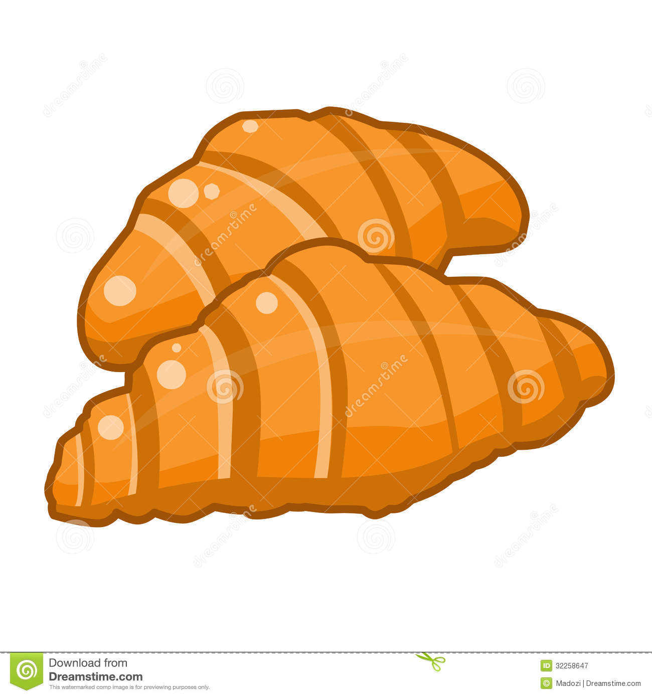 Croissant Clip Art Croissants isolated