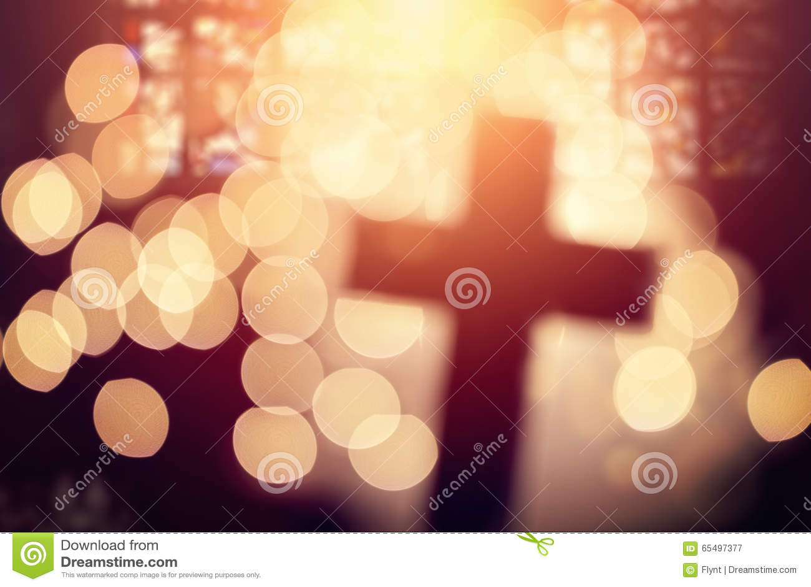 Croix abstraite dans l intérieur d église
