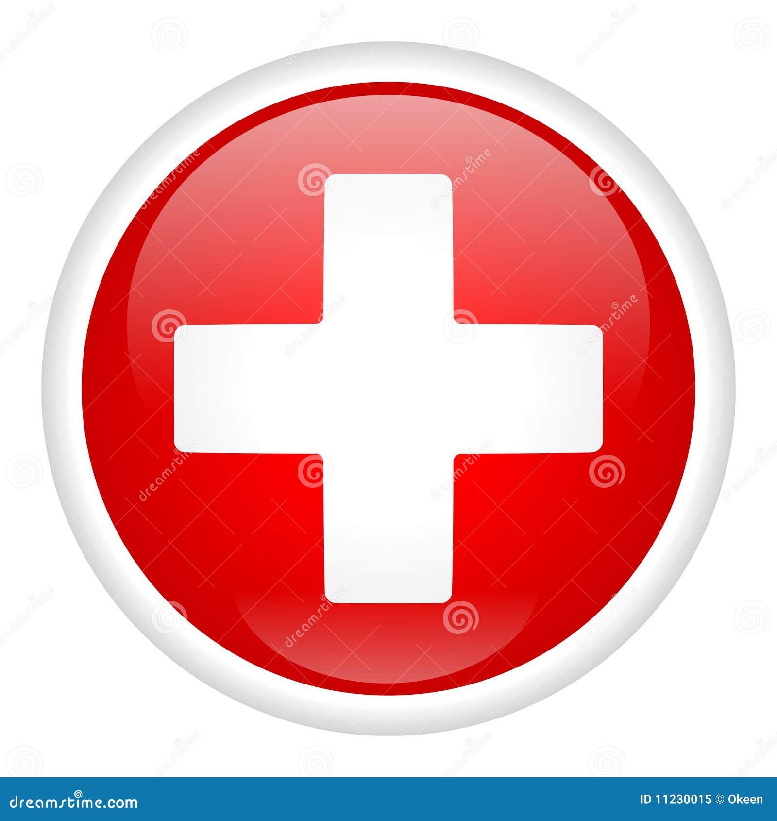 Croix blanche sur le bouton photo libre de droits image 11230015 - Le bureau croix blanche ...
