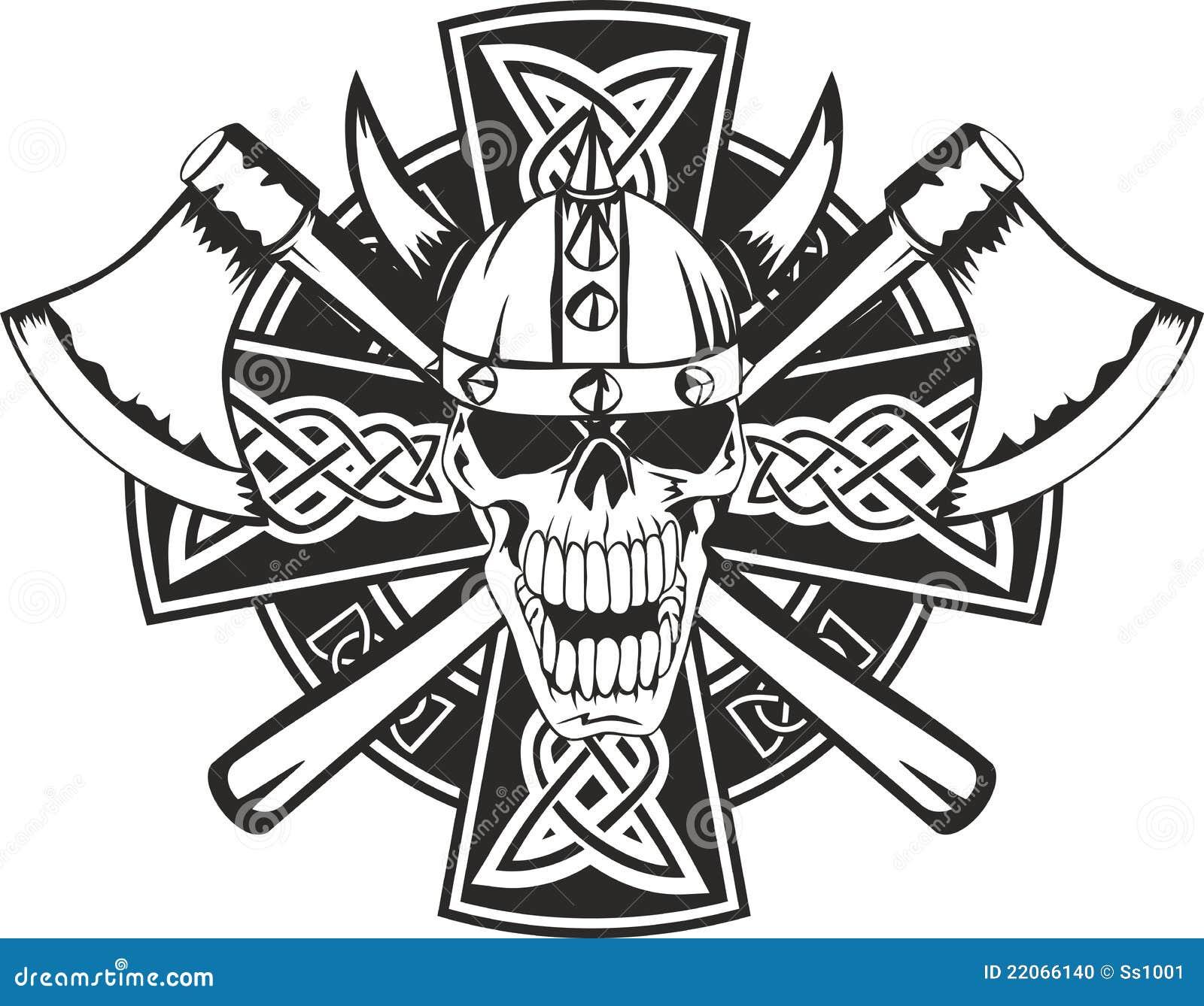 Croix Celtique Et Crane Illustration De Vecteur Illustration Du