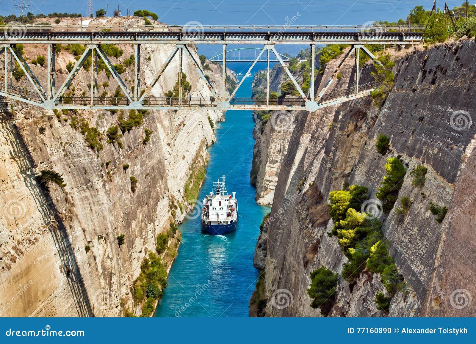 Croix de bateau le canal de Corinthe