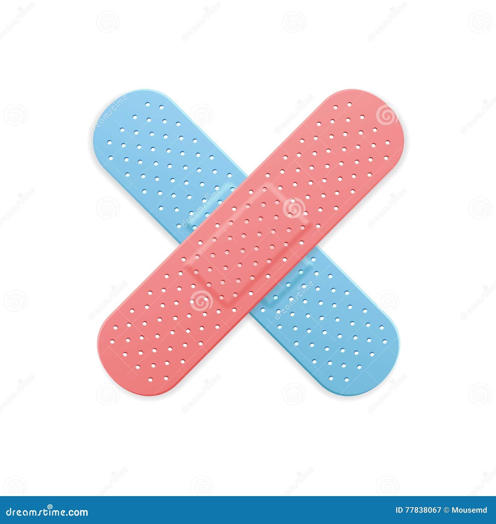 croix médicale de couleur de correction de bande de plâtre de bande
