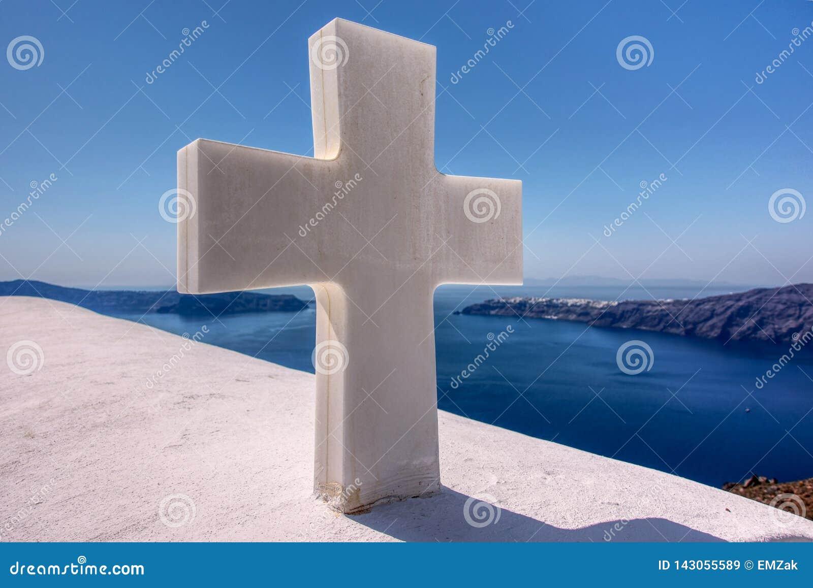Croix paisible dans Santorini