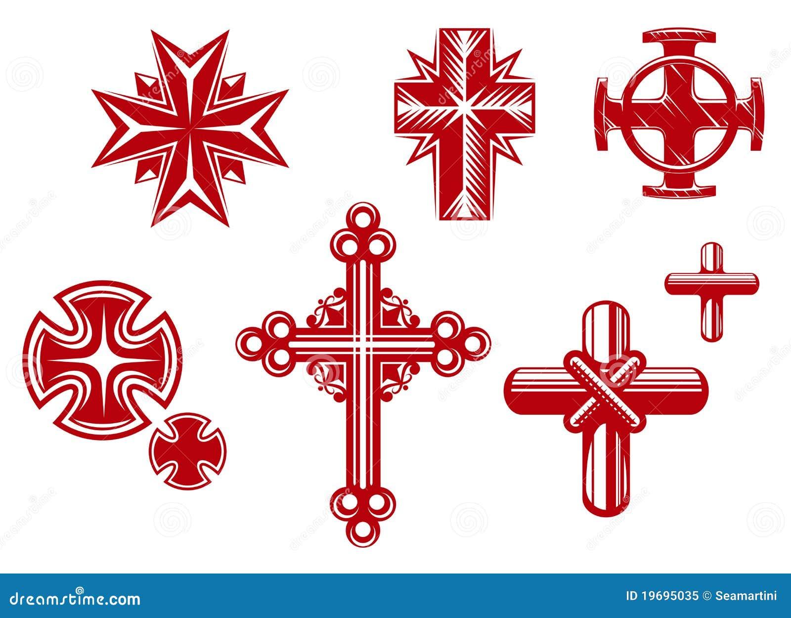 Croix Religieuses croix religieuses illustration de vecteur. illustration du