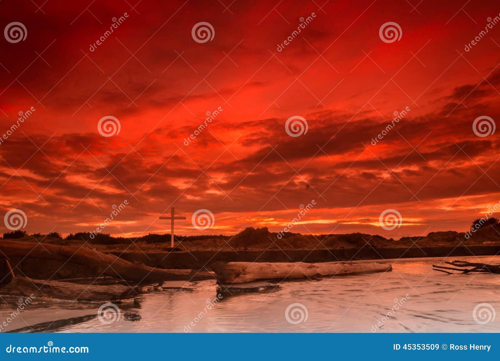 Croix rouge de ciel