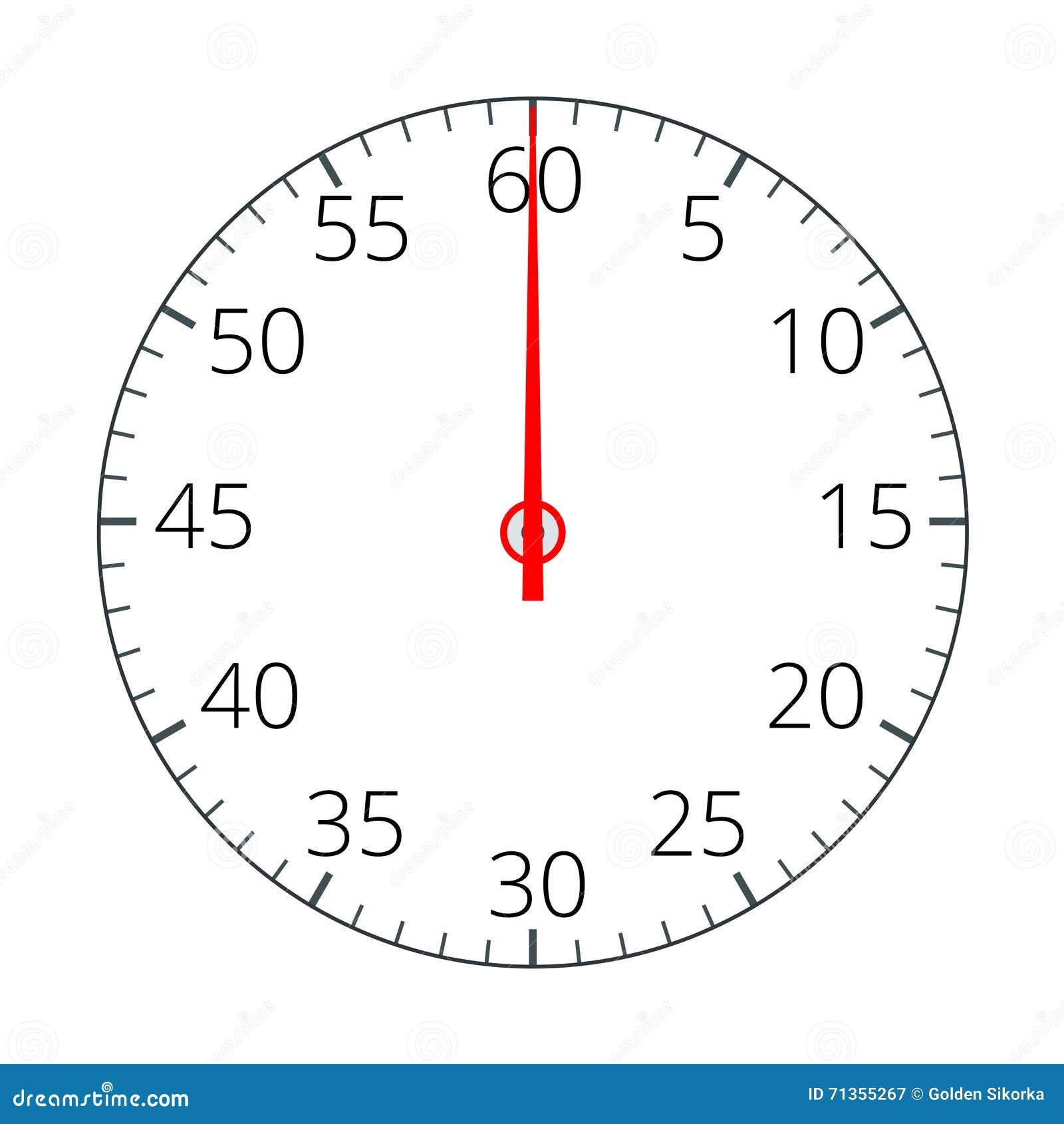 Cronómetro Icono del cronómetro Icono del cronómetro plano Ejemplo plano del vector 3d