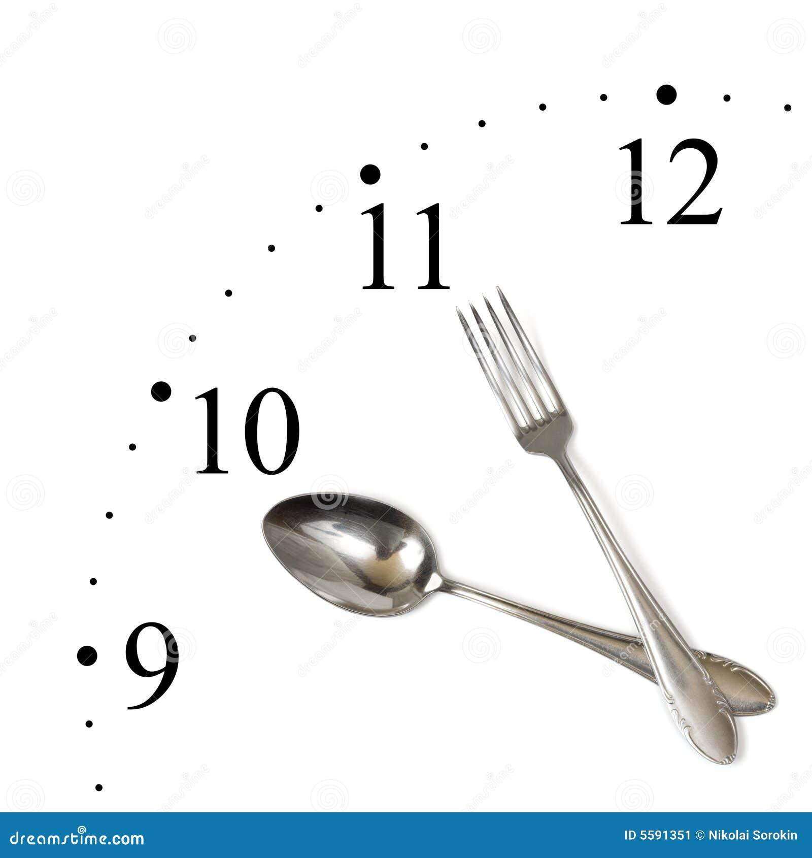 Cronometre feito da colher e da forquilha