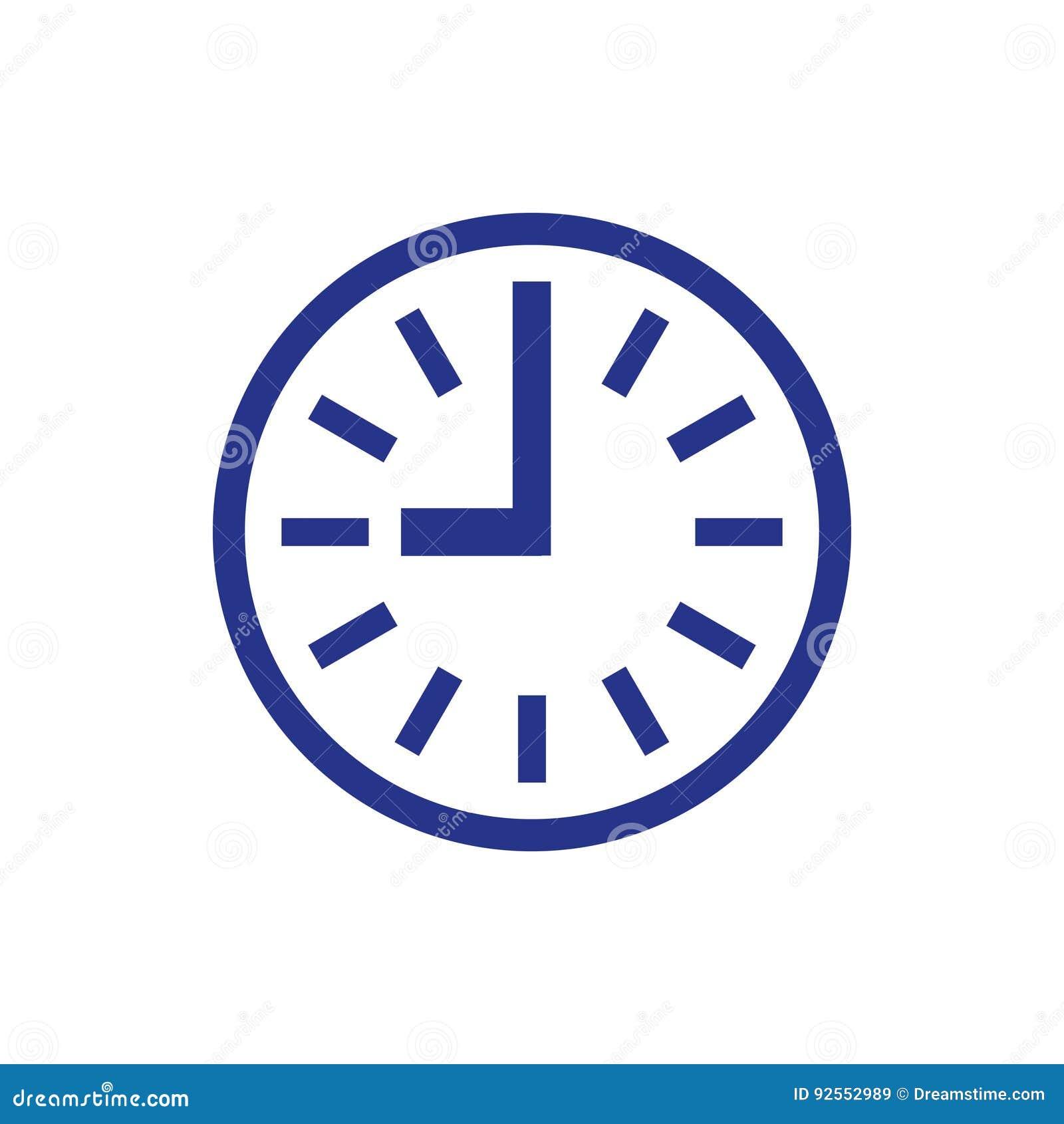 Cronometri lo stile piano di progettazione dell illustrazione di vettore delle azione dell icona dell icona