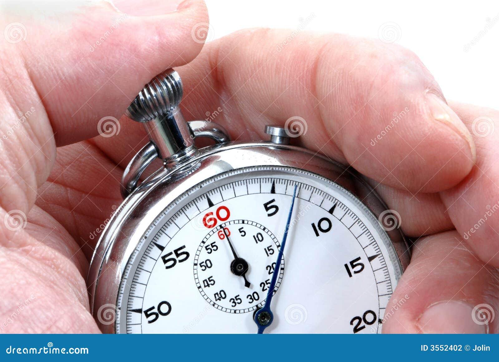 Cronometro in una mano