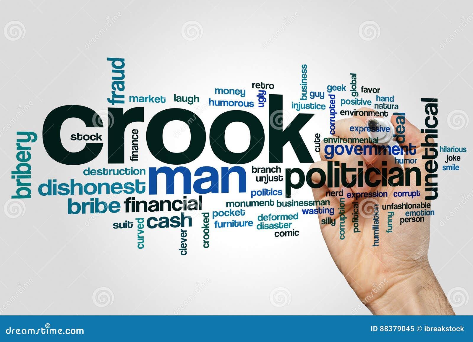 Crook word cloud