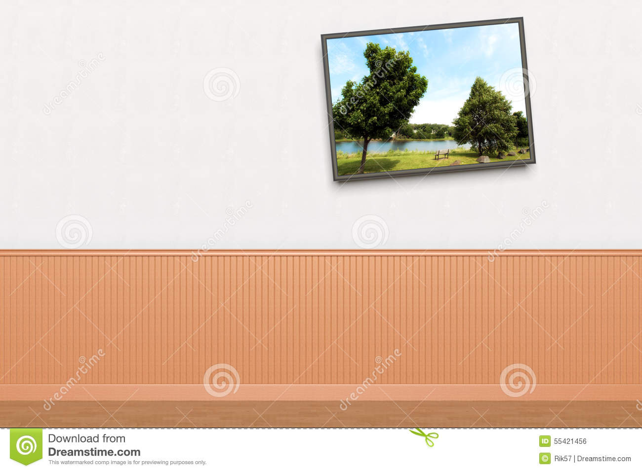 Crooked Painting On Wall Stock Illustration Image 55421456