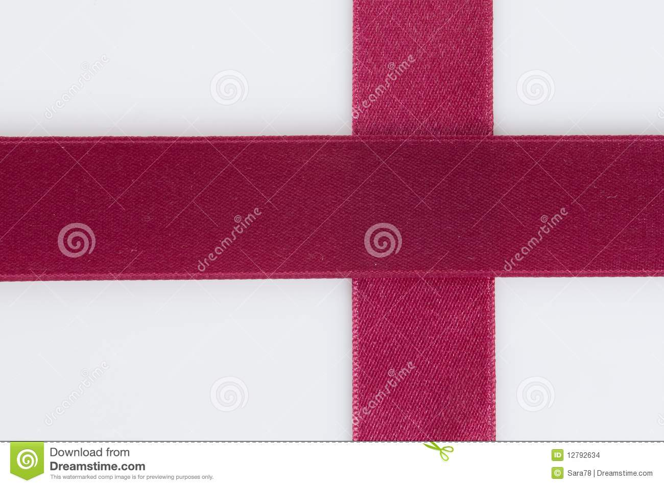 croos-shaped red ribbon, copy space