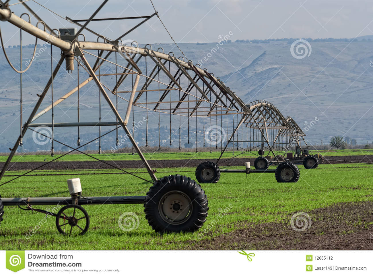 The Crop Irrigation System Stock Photo Image Of Equipment