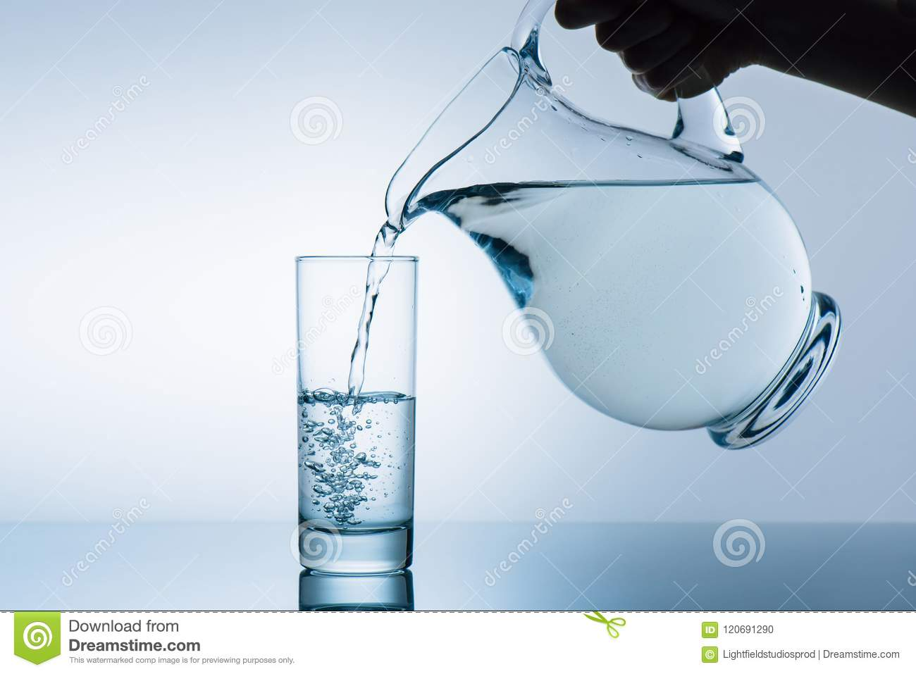 Cropped image of woman pouring water from jug