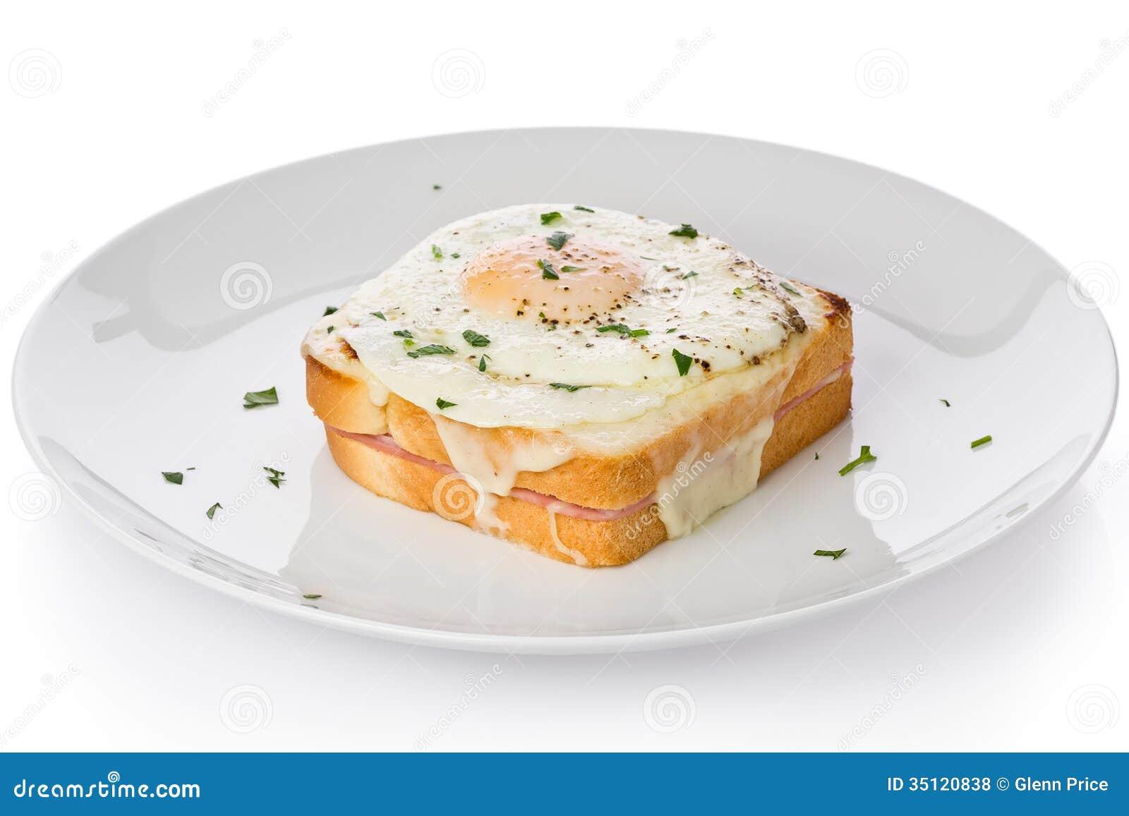Croque-Мадам сандвич