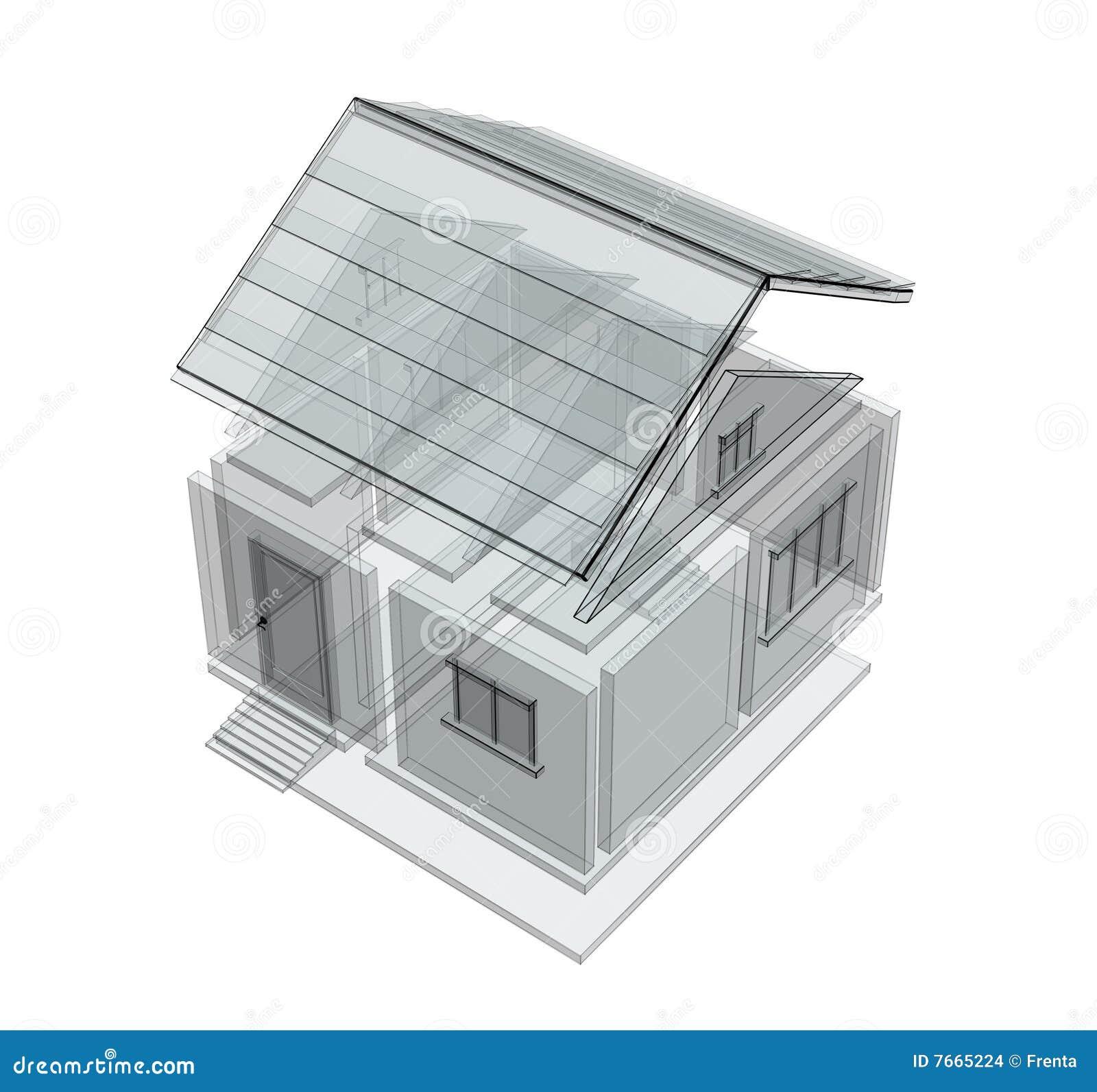 Croquis 3d d 39 une maison images stock image 7665224 for Croquis d une maison