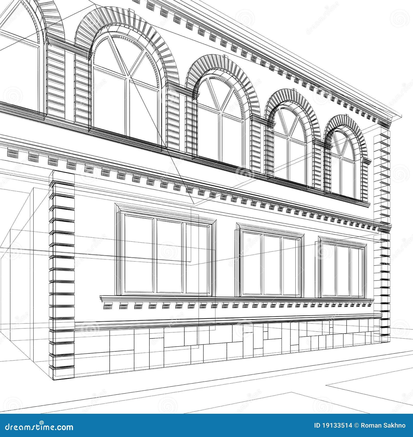 Croquis abstrait architectural