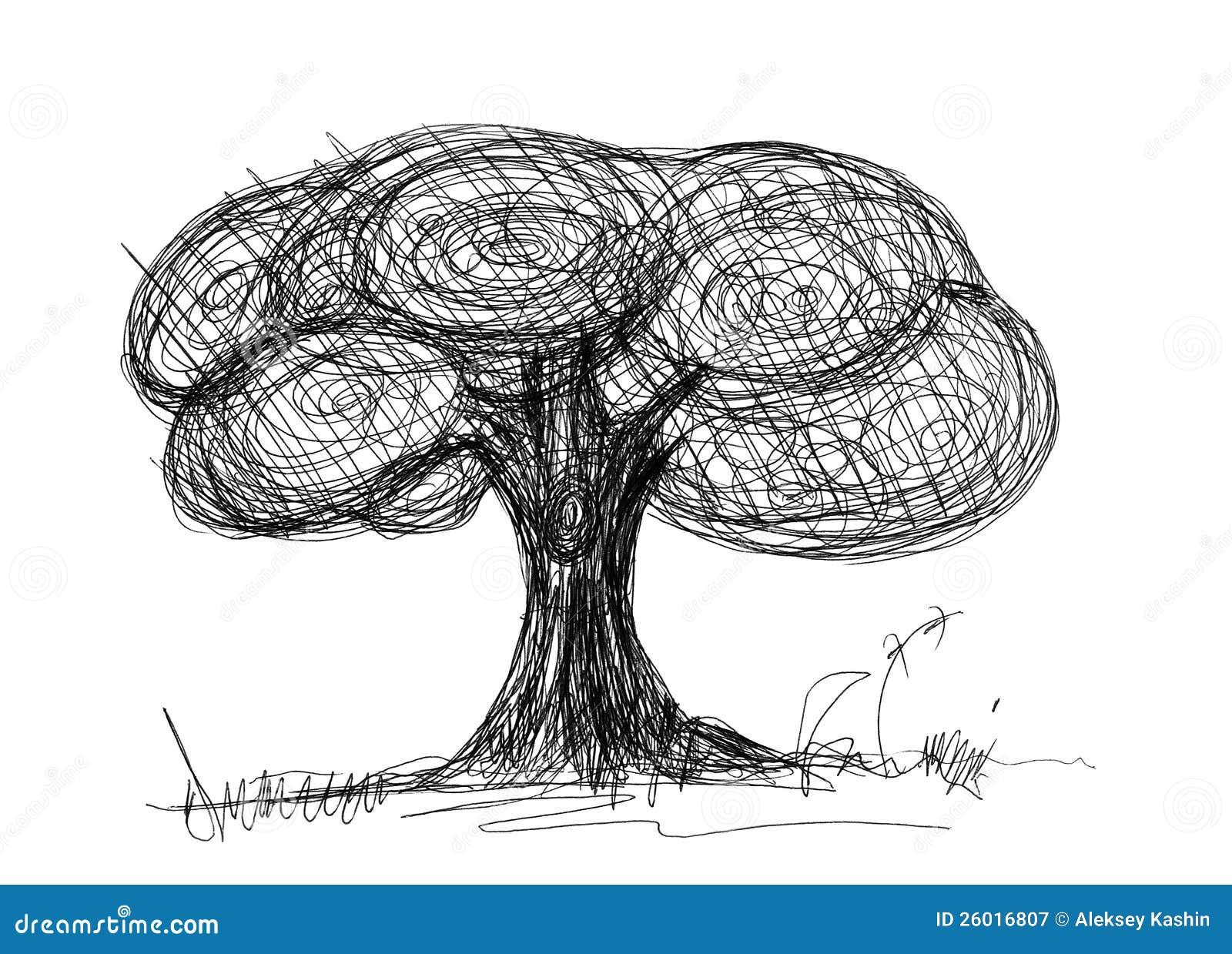 Croquis d 39 arbre illustration stock illustration du encre - Croquis arbre ...