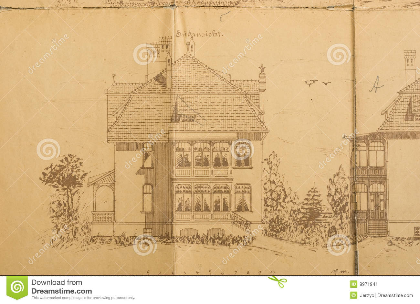 Croquis d 39 architectes de maison image stock image 8971941 for Croquis d une maison