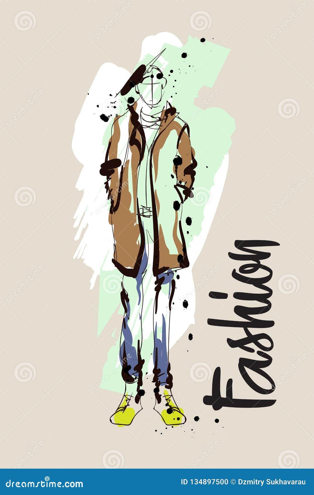 Croquis D Hommes De Mode Illustration De Mode Modeles De Dessin Illustration De Vecteur Illustration Du Modeles Dessin 134897500