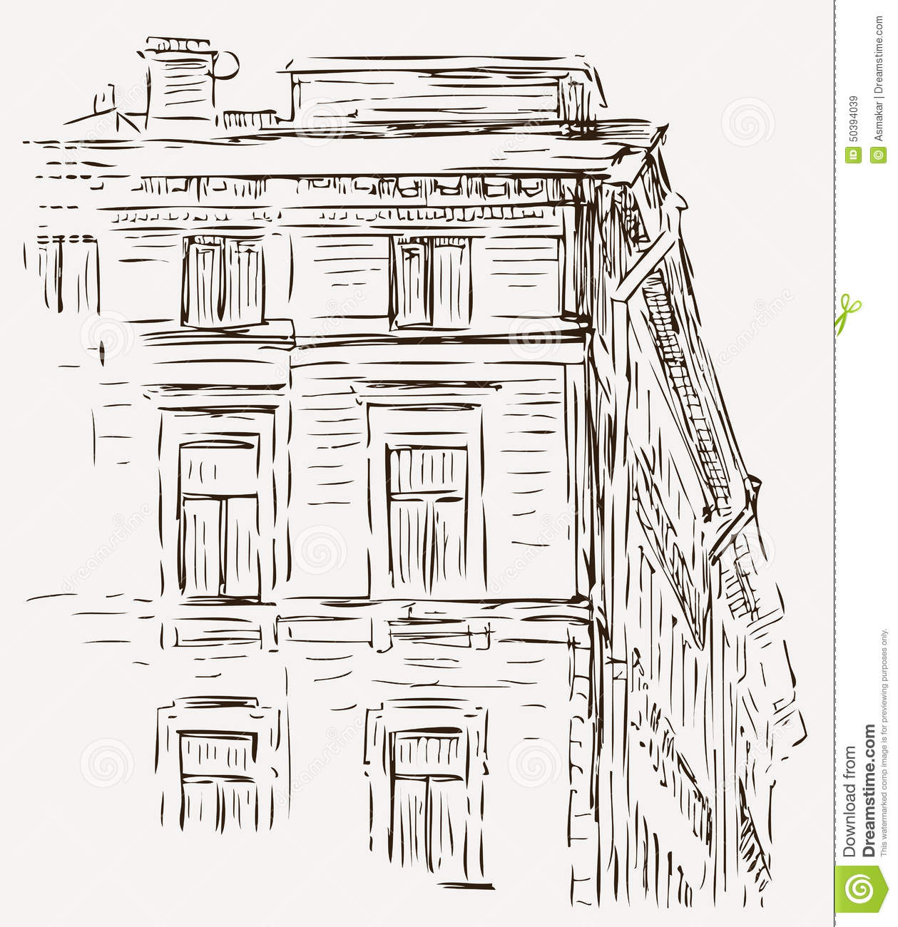 croquis d 39 une maison illustration de vecteur illustration