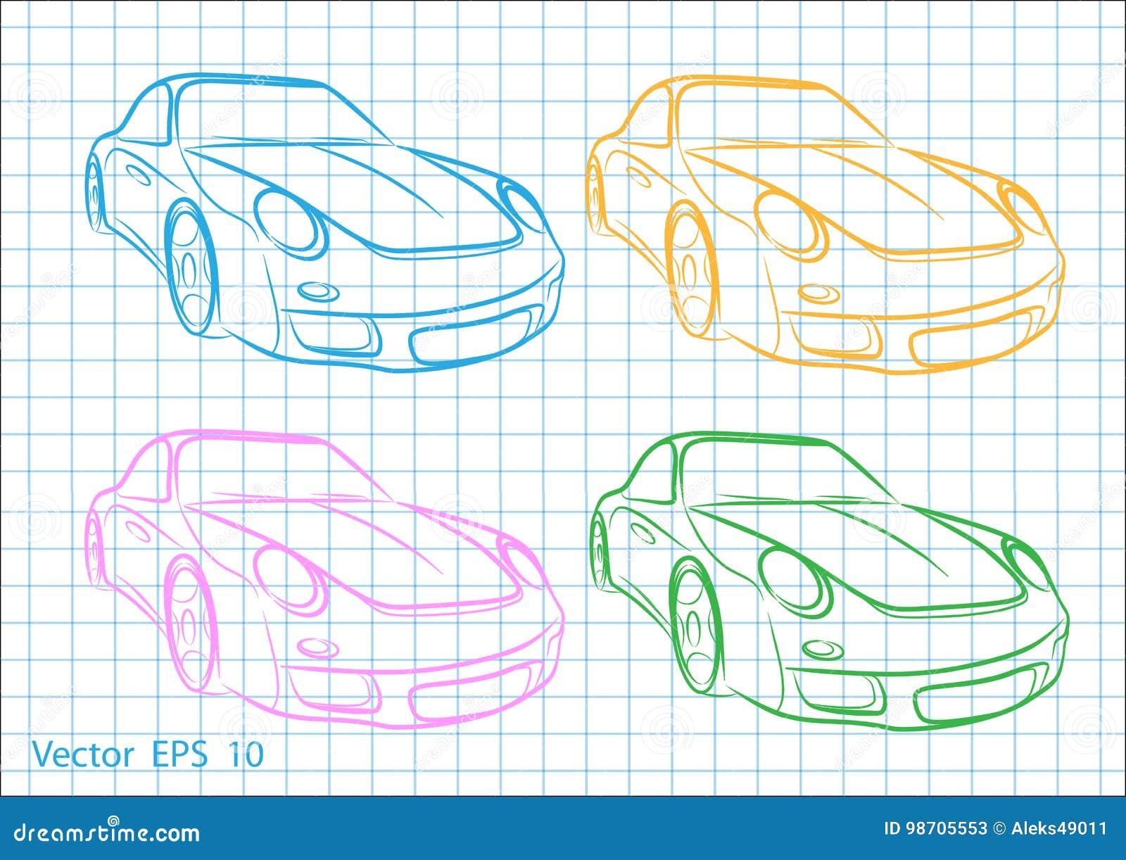 Croquis d une voiture stock illustrations vecteurs clipart 651 stock illustrations - Croquis voiture ...