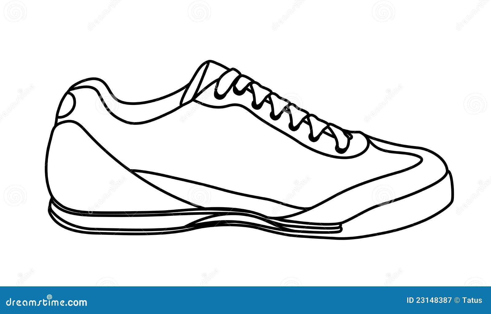 Kinderschoenen Kleurplaat Croquis De Chaussure Occasionnelle Espadrilles