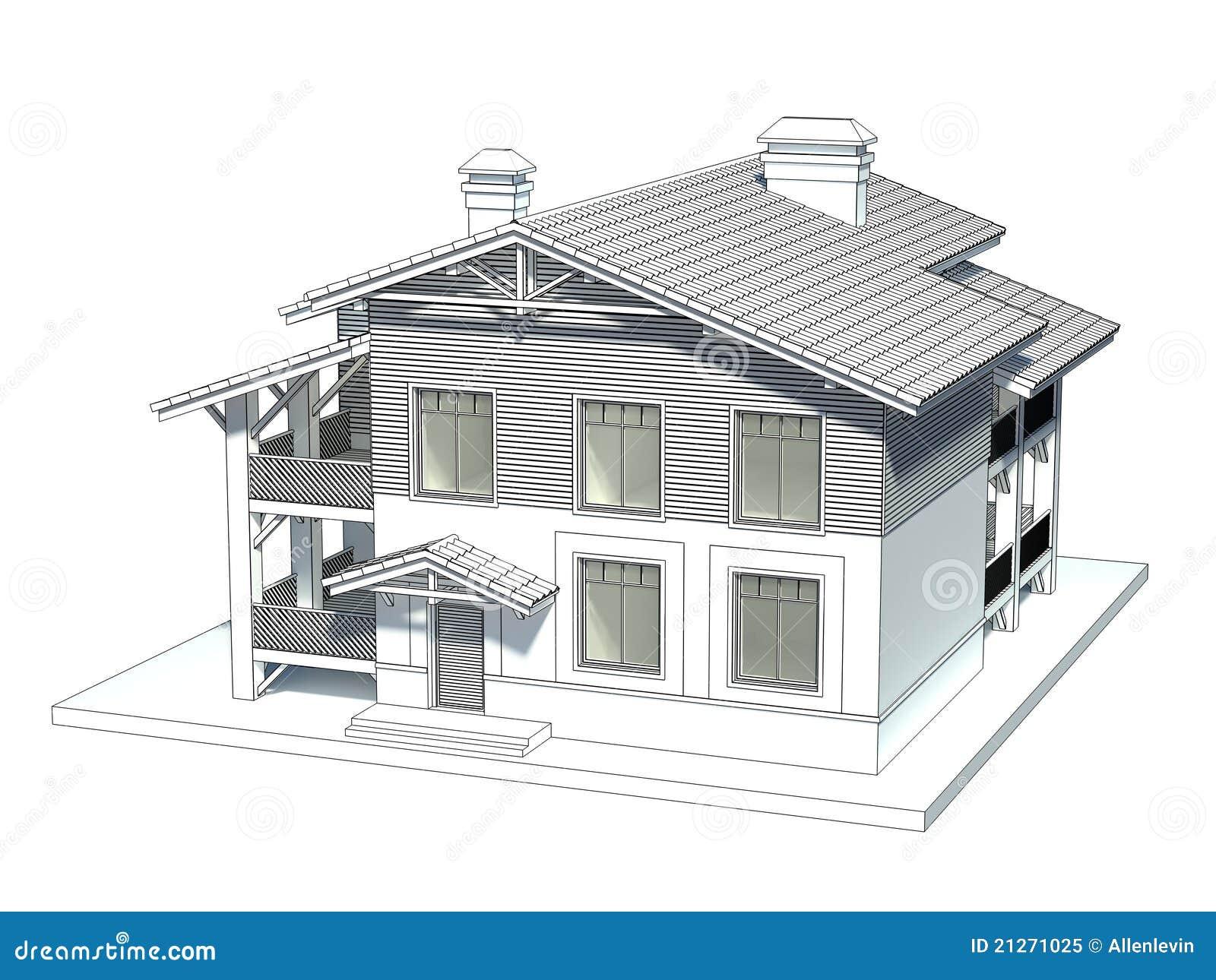 Croquis Maison : Croquis de la maison illustration stock du