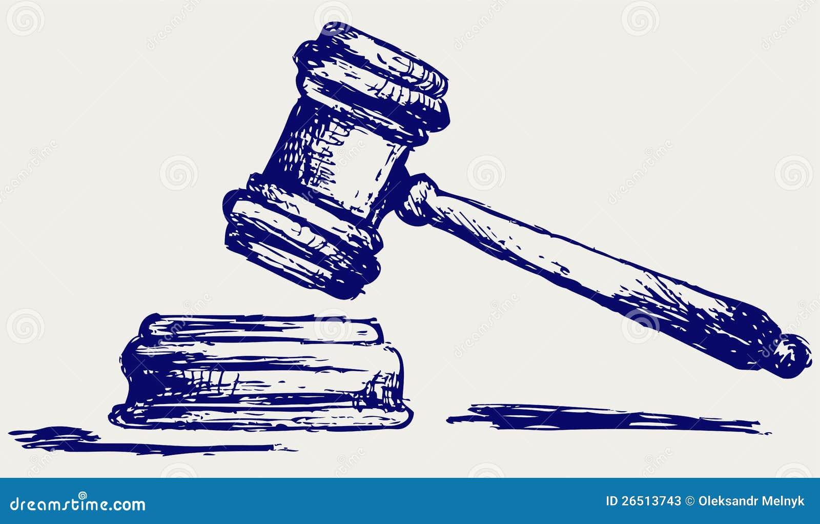Croquis de marteau de juge