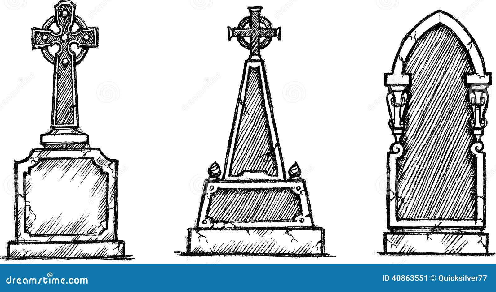 Croquis de pierre tombale illustration de vecteur illustration du classique 40863551 - Pierre tombale dessin ...