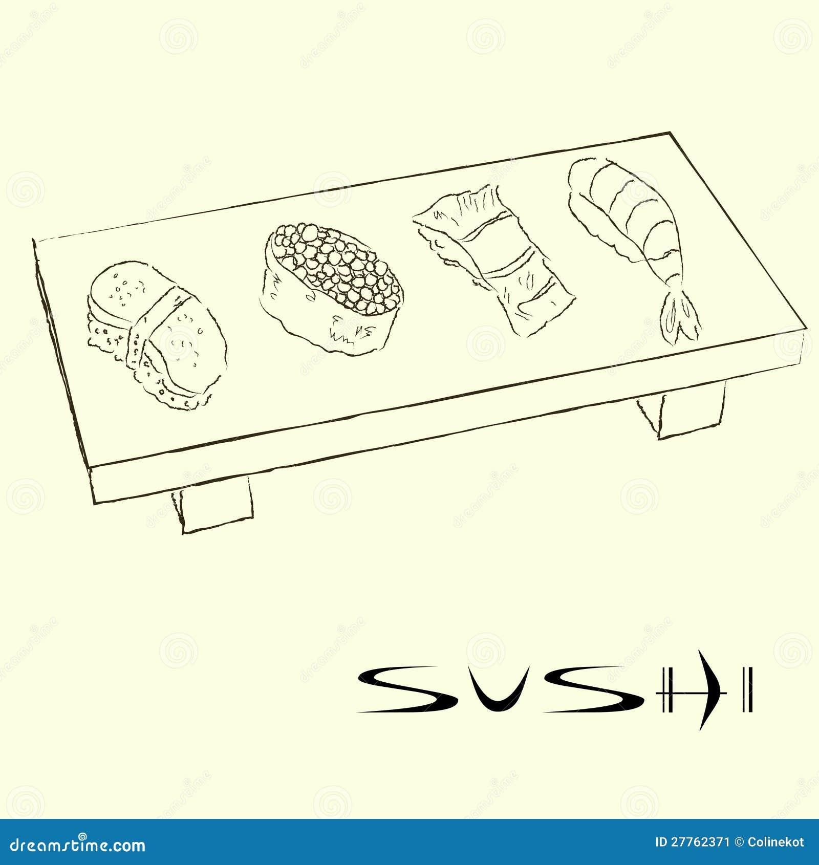 Croquis de sushi