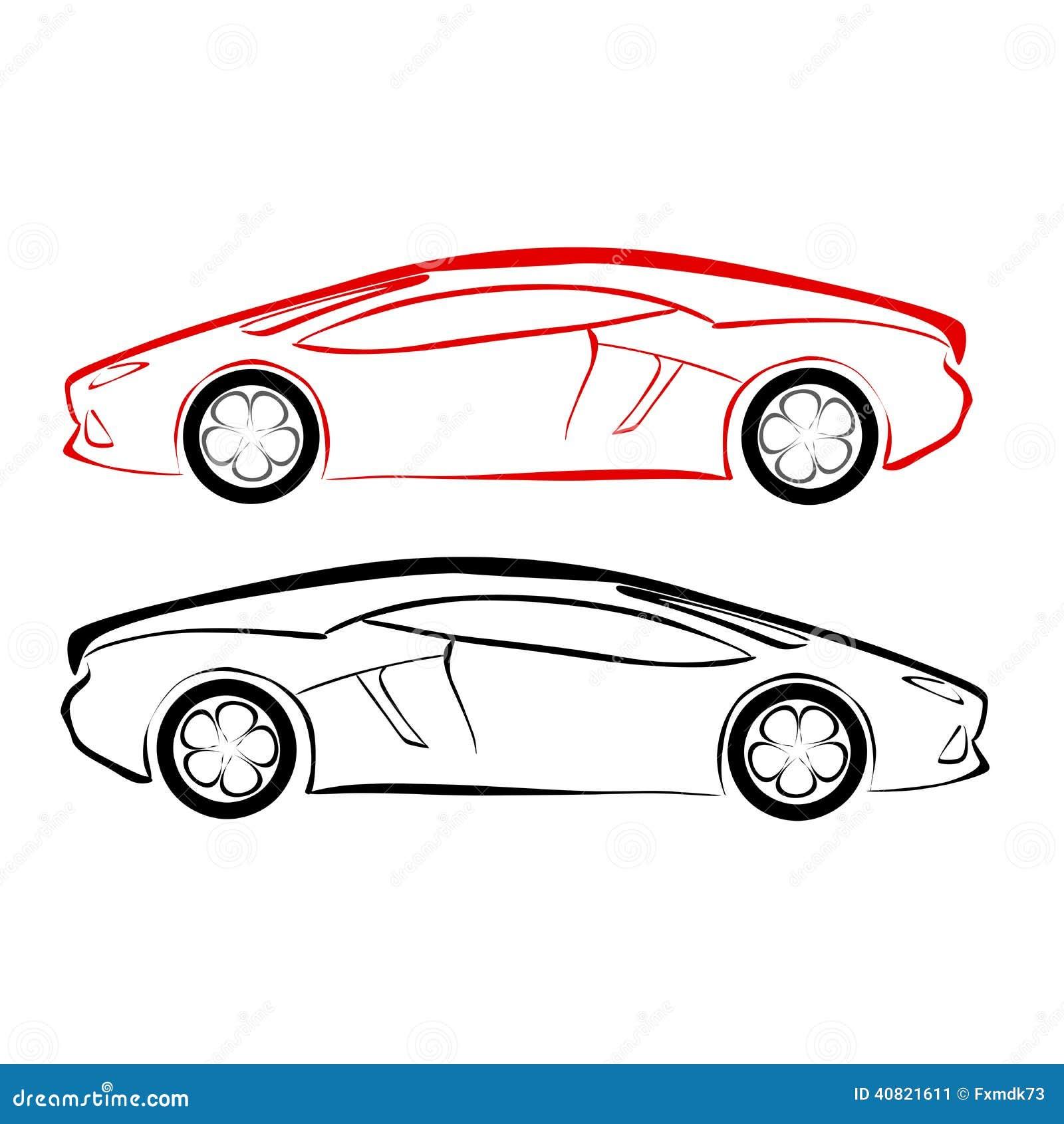 Croquis de voiture illustration de vecteur illustration du illustration 40821611 - Croquis voiture ...