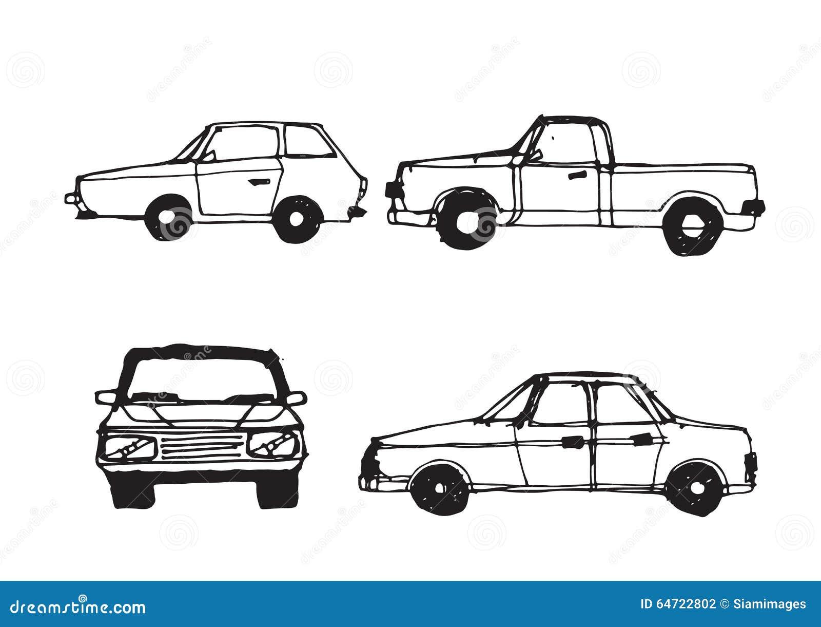 Croquis de voiture illustration de vecteur illustration du roue 64722802 - Croquis voiture ...