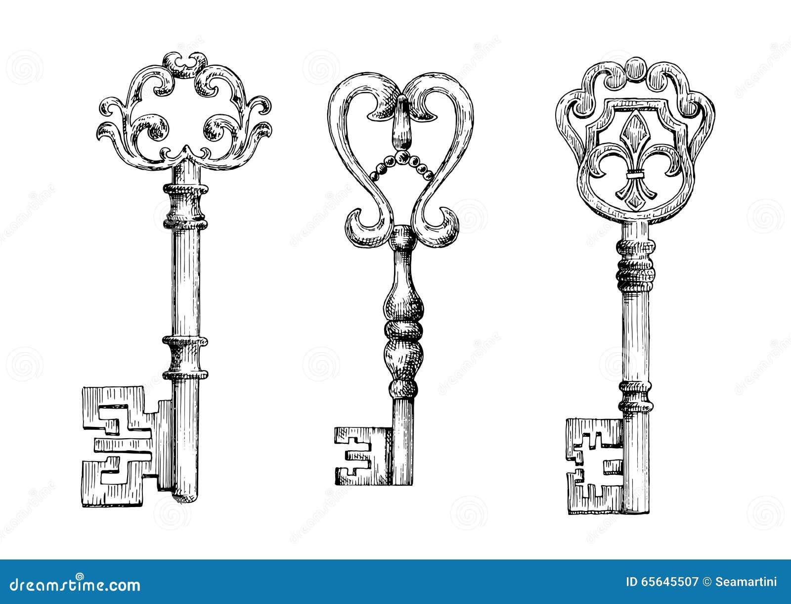 Croquis des fausses clés médiévales