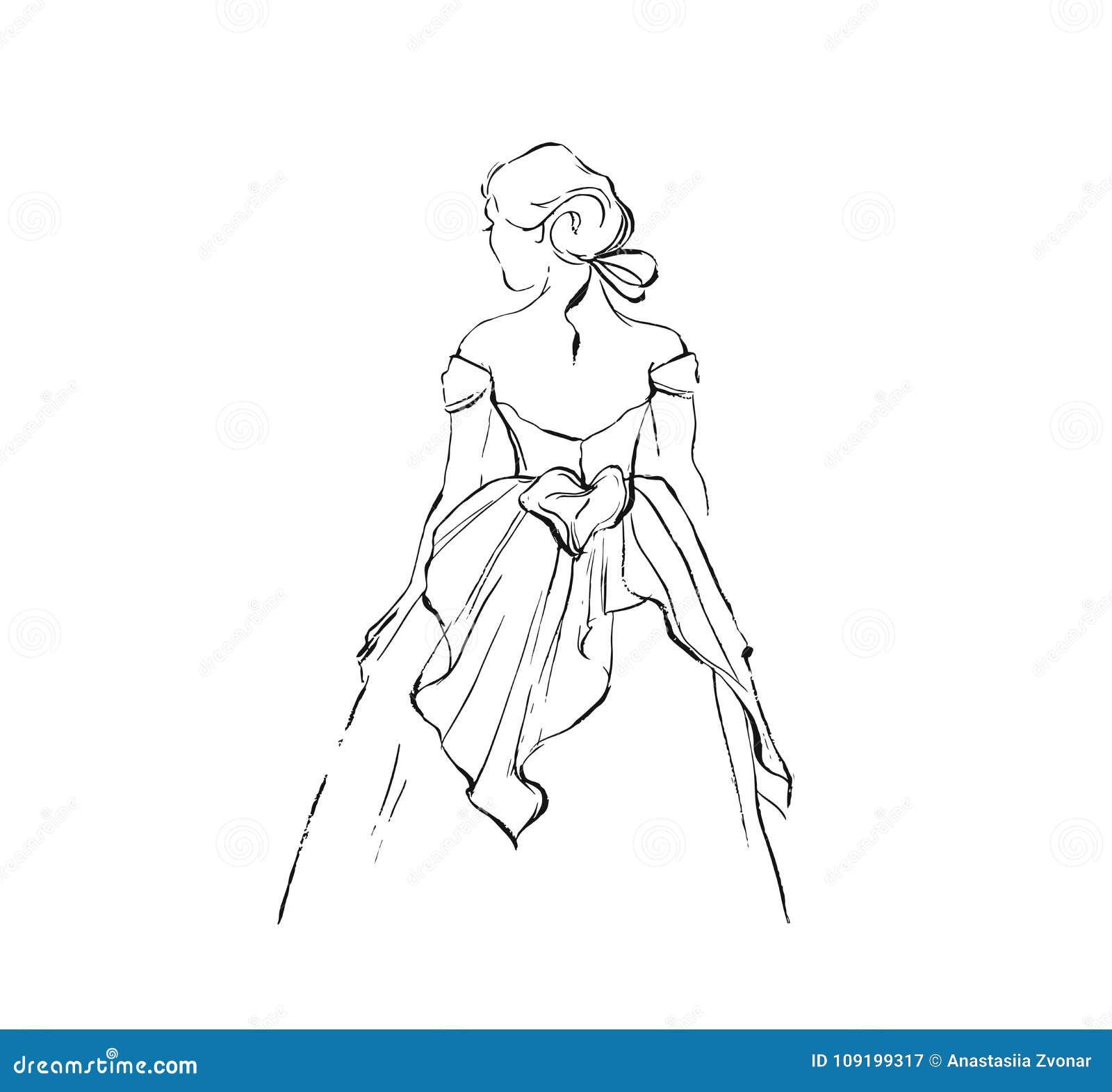 Croquis Graphique D Illustration De Dessin D Encre D Abrege Sur Tire