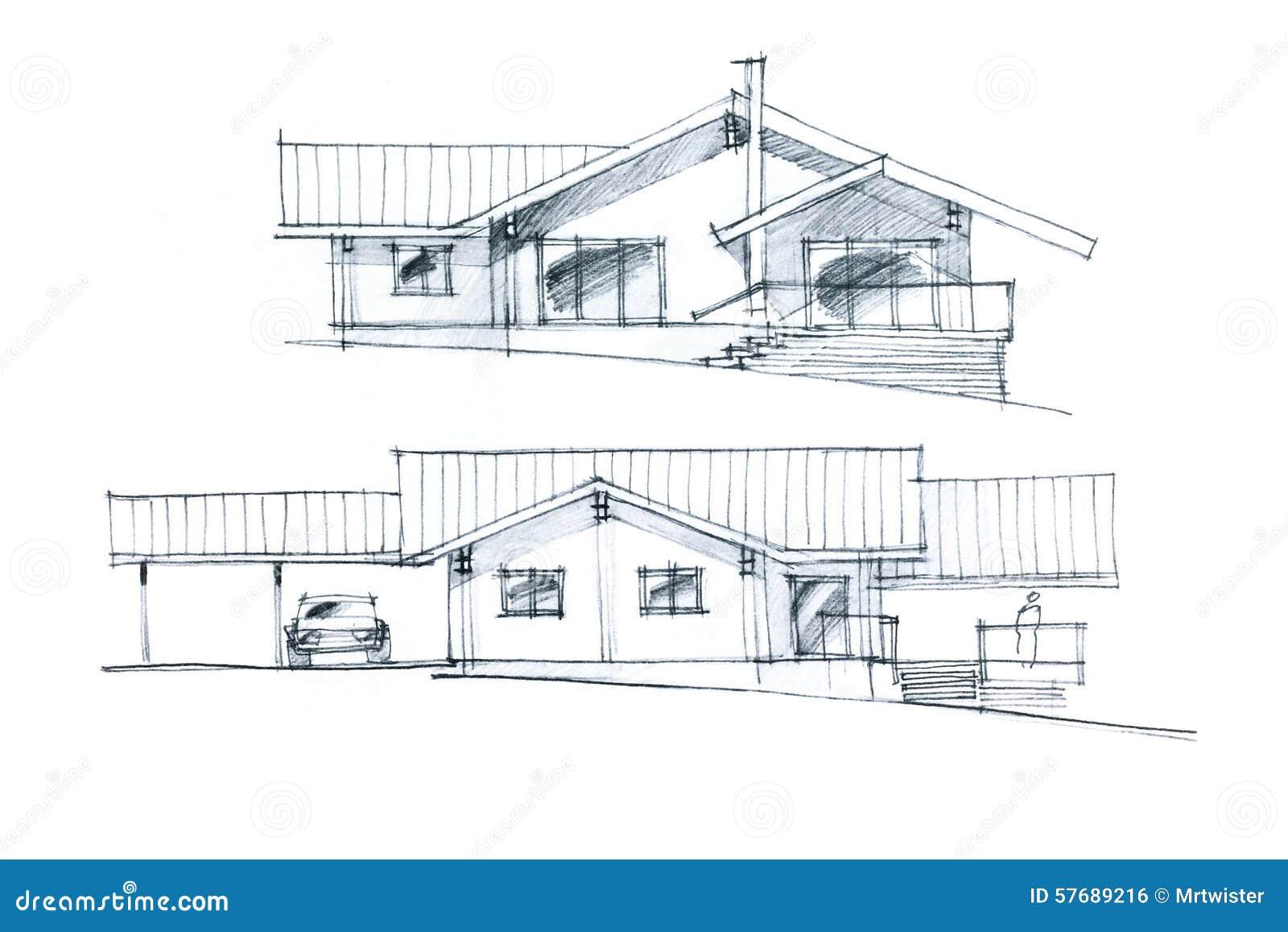 Exceptionnel Croquis D Une Maison #10: Croquis Dessin Disposition ...
