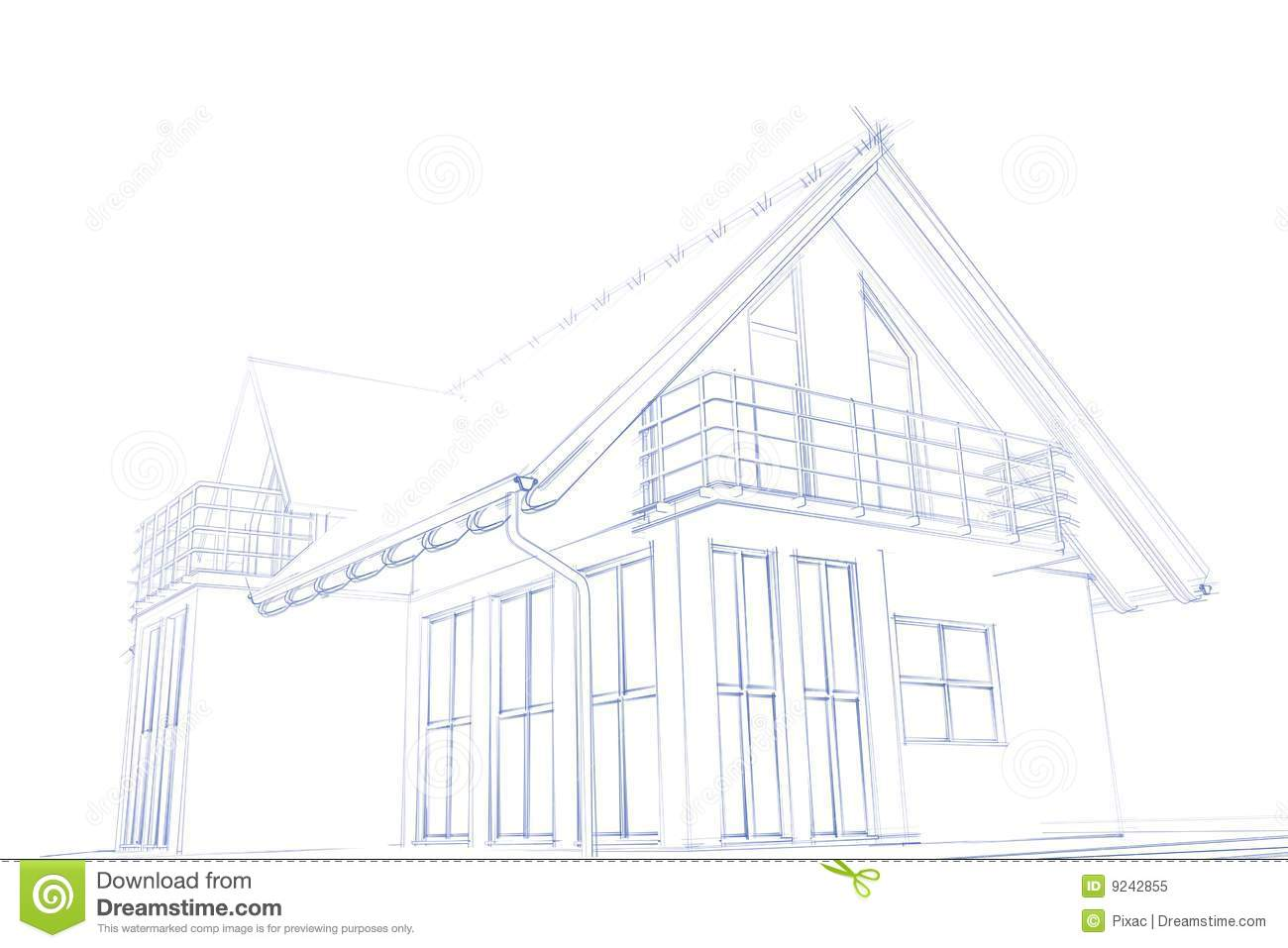Croquis moderne de maison illustration stock image du for Croquis de maison
