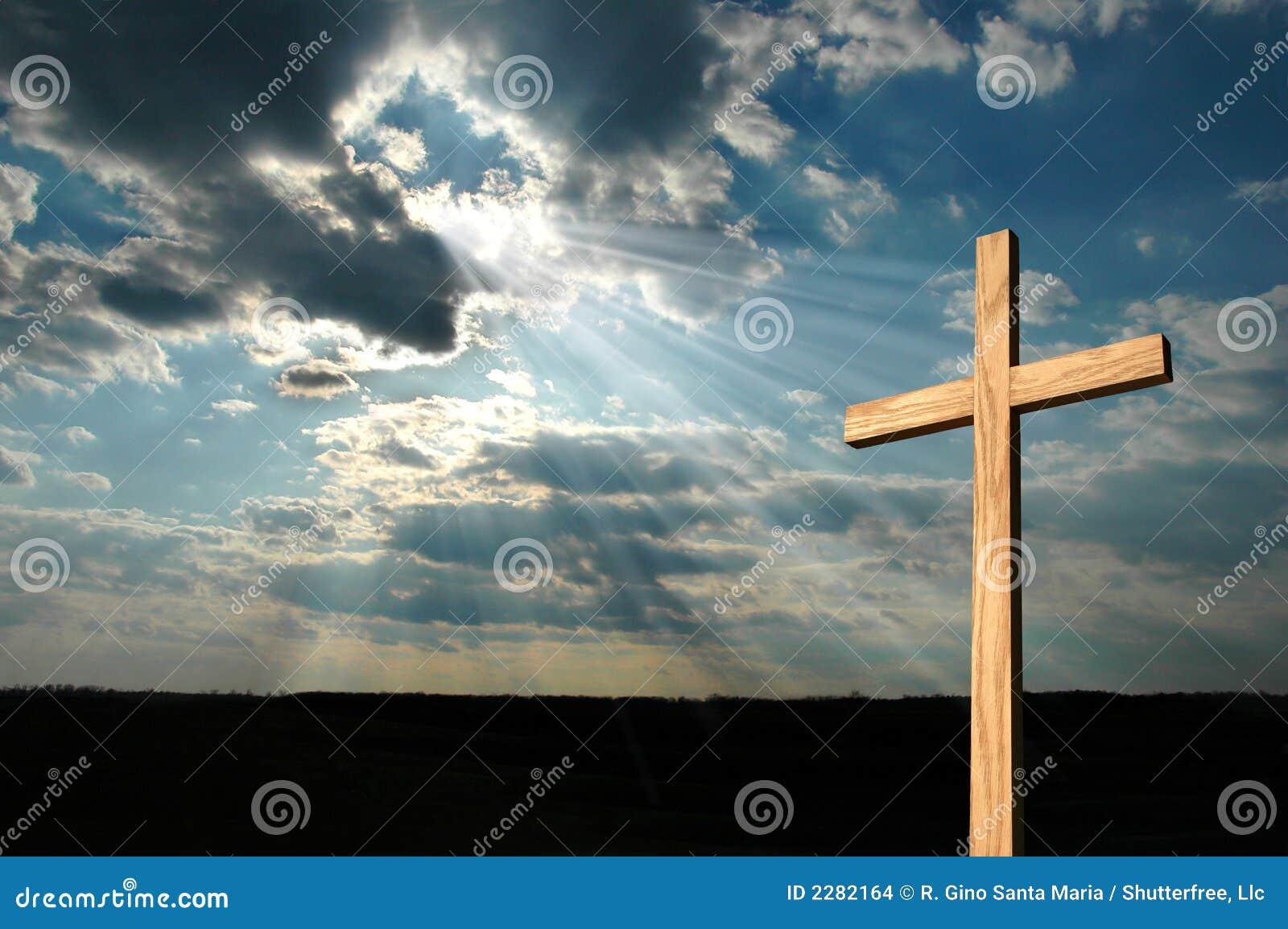 Cross światło świeci