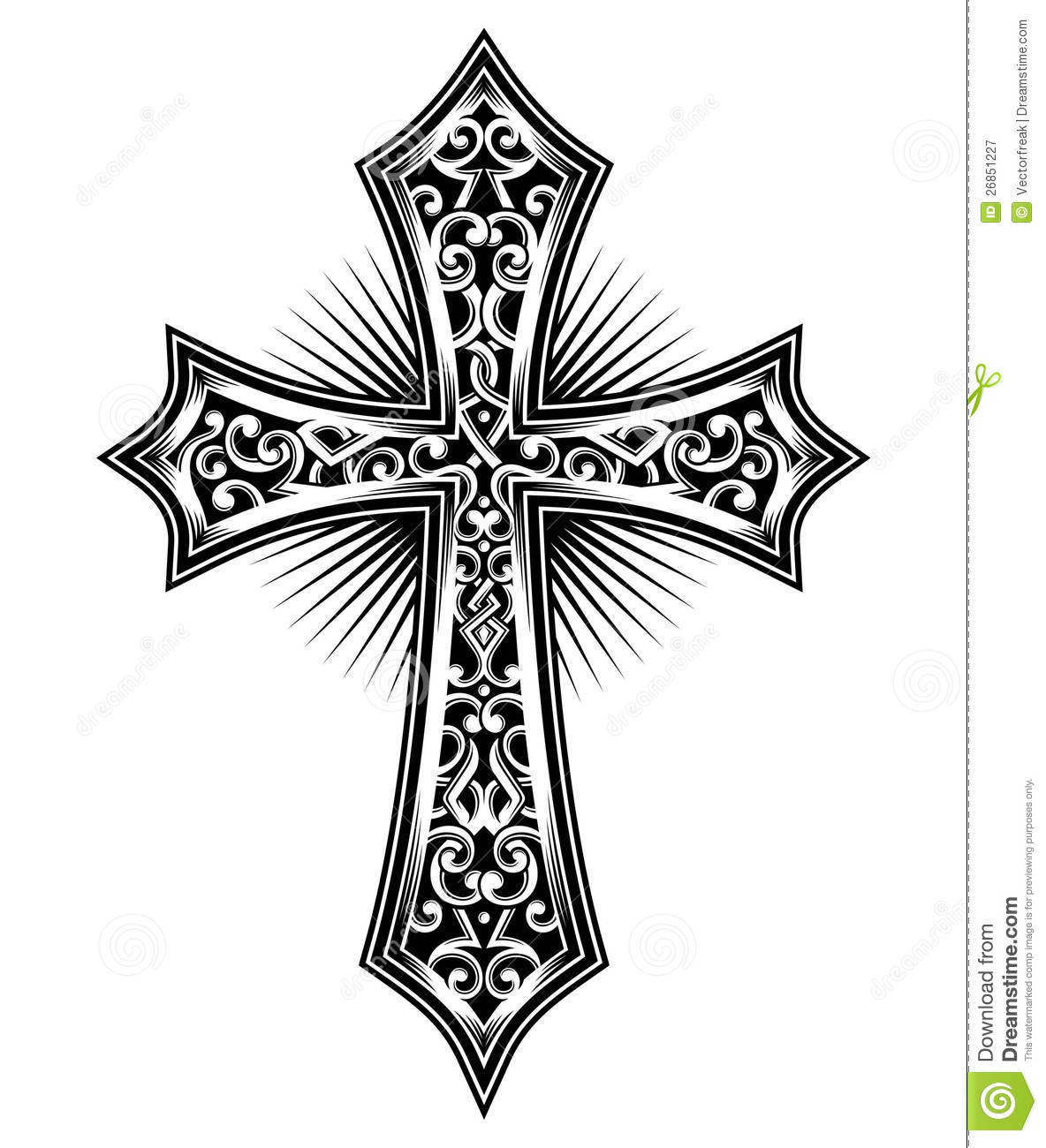 Cross stock vector illustration of cross carving symbol 26851227 voltagebd Image collections