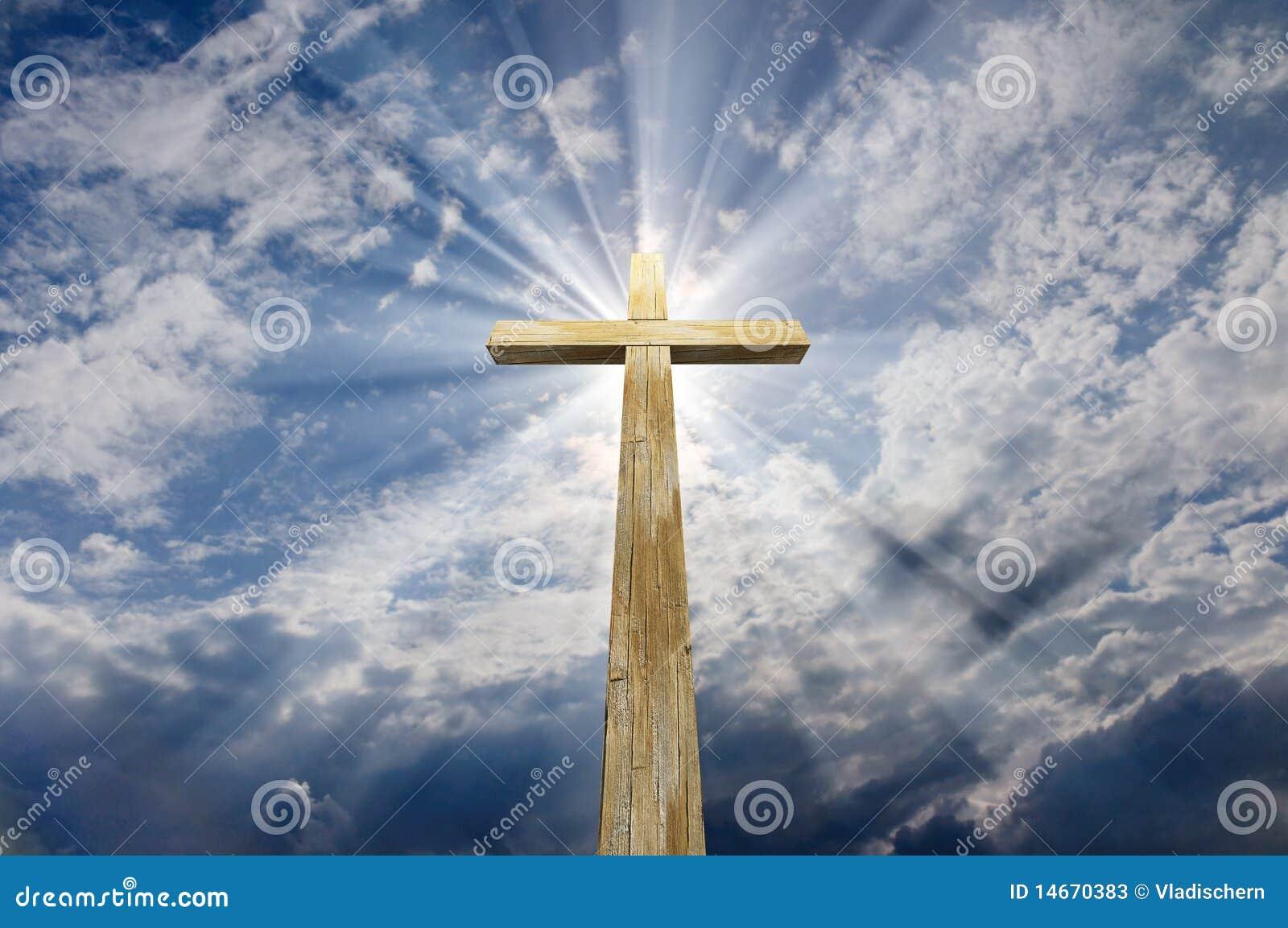 cross against the sky stock photos image 14670383