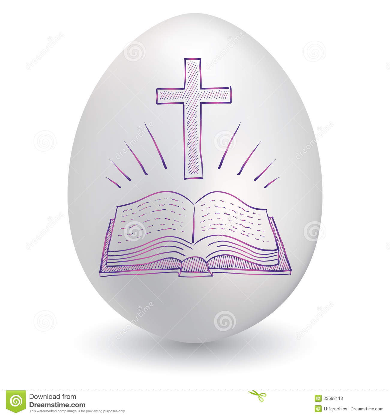 Cross and bible easter egg stock vector illustration of ghost cross and bible easter egg biocorpaavc