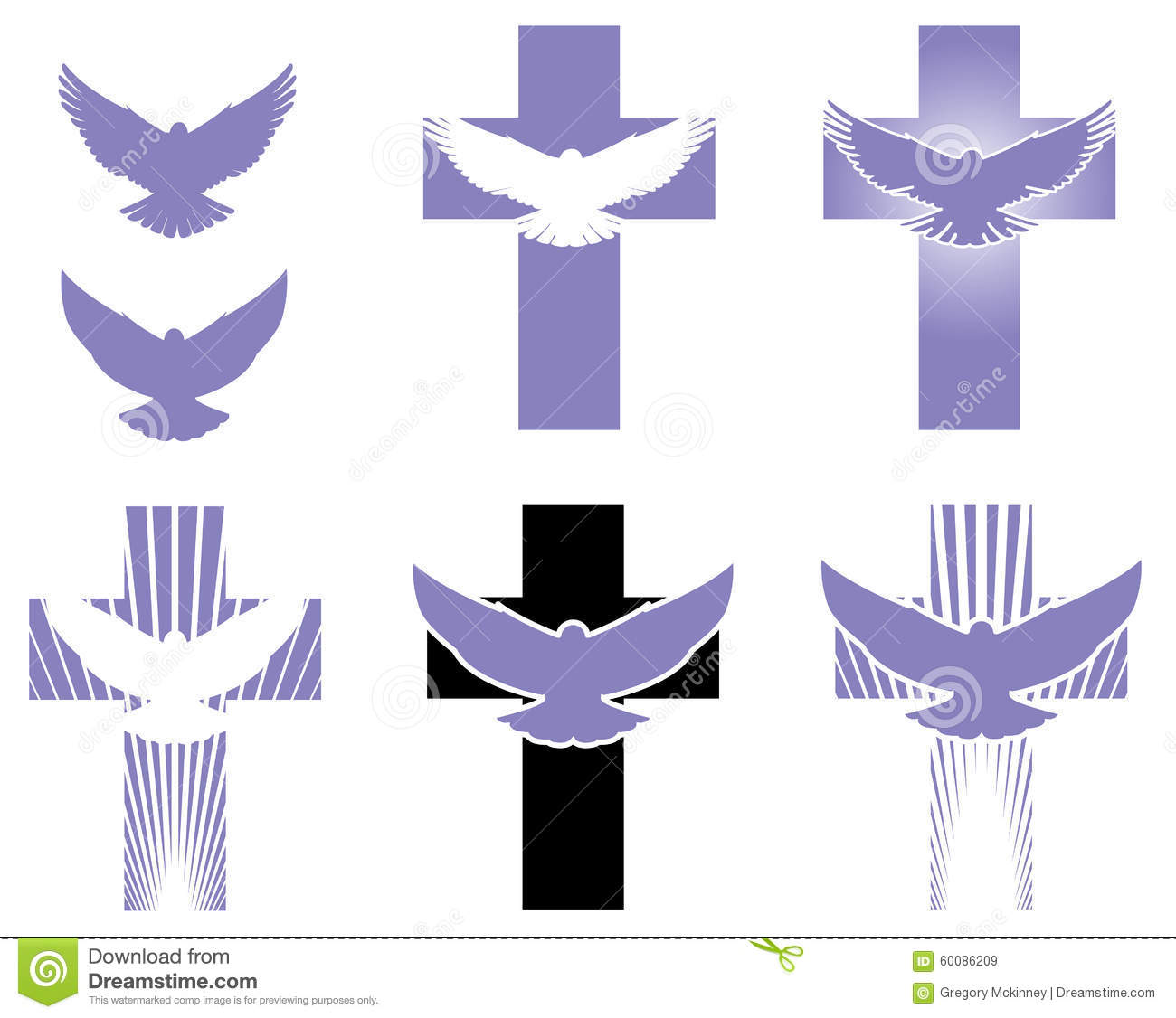 Sacrificial stock illustrations 103 sacrificial stock graphic icon symbols of dove and cross for use in buycottarizona Gallery