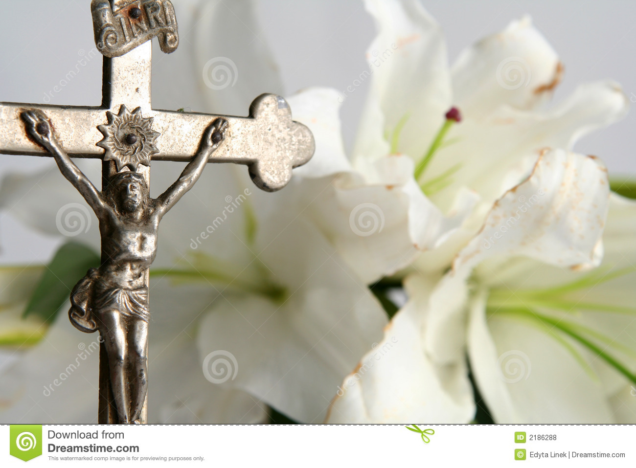 Cross and easter lilies