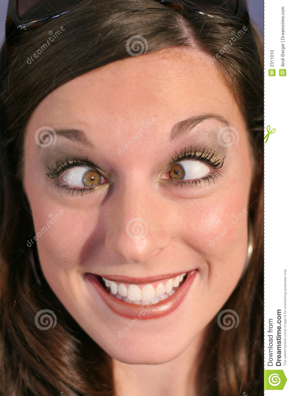 Cross Eyed Funny Face Woman Stock Photo Image 2311010