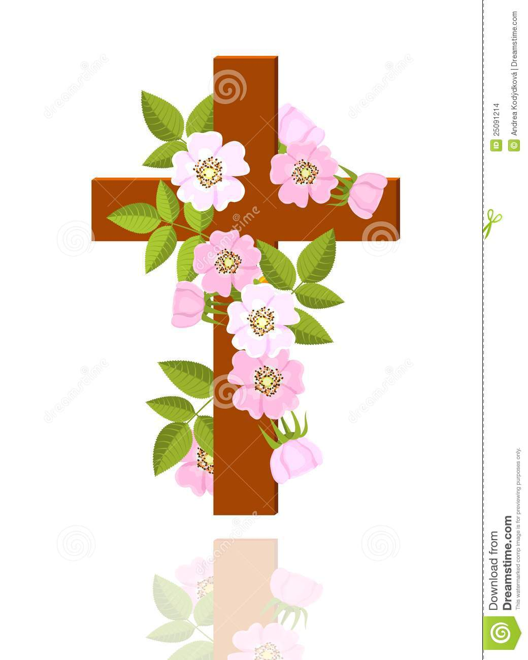 Cross With Flowers Stock Images Image 25091214 for Free Clip Art Cross Flowers