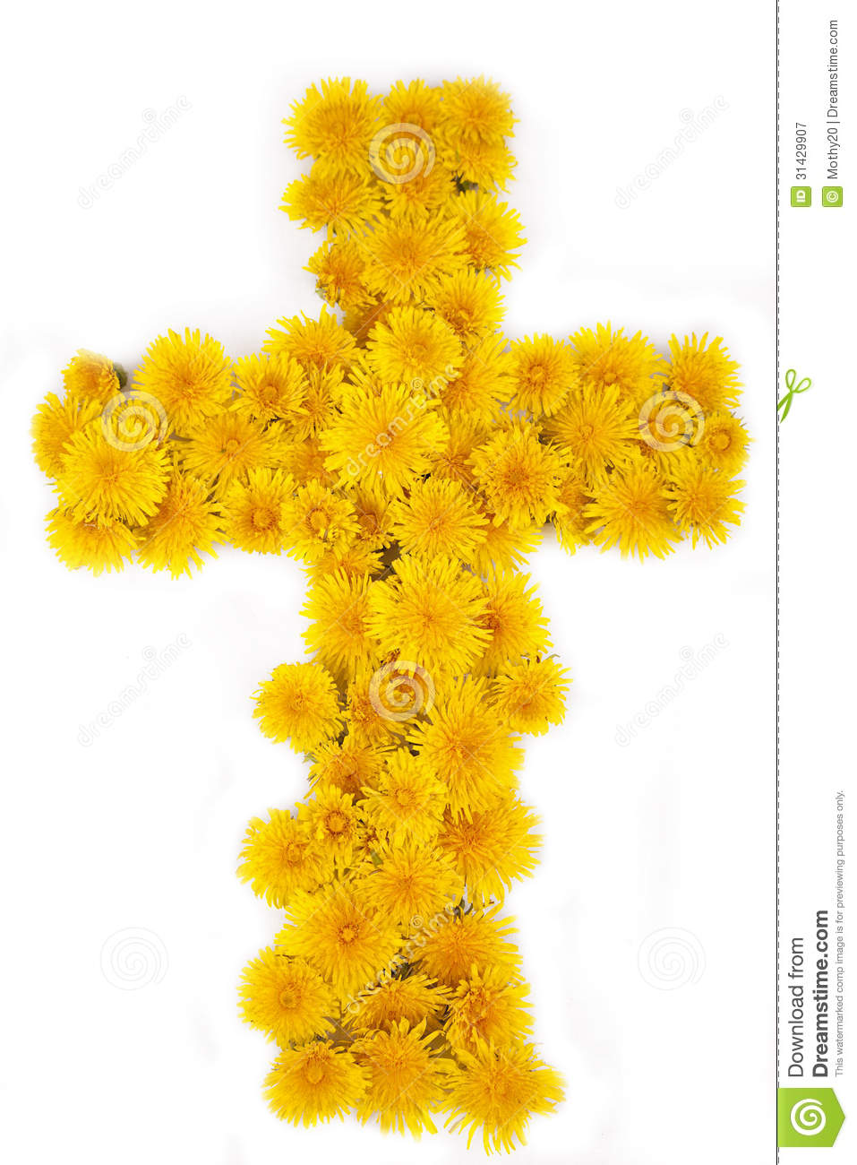 Cross Of Flowers Royalty Free Stock Photography - Image ...